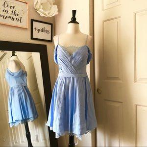 Forever Unique Light Blue Off Shoulder Dress M